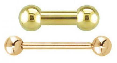 14K Gold - Straight Barbell