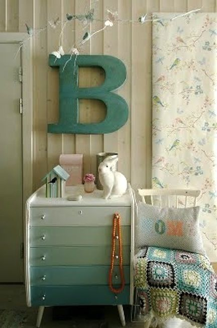 Like the drawers!: Dressers Drawers, Paintings Chips Cards, Big Letters, Color, Paintings Dressers, Baby Rooms, Dressers Ideas, Chest Of Drawers, Kids Rooms