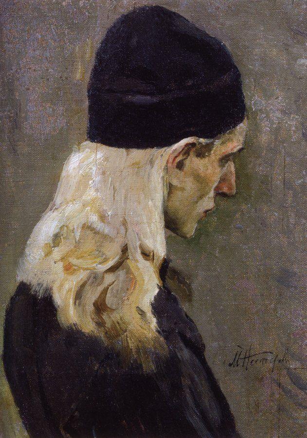 Нестеров М.. Голова молодого монаха. 1895