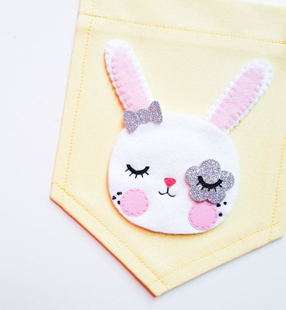 Flora Flower eyed baby bunny banner Bunny banner Banner