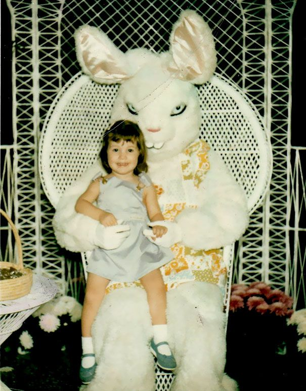 Here's a collection from Bored Panda of just the creepiest Easter bunny pictures you could ever imagine.   15+ Vintage Easter Bunny Pics That Will Give You Nightmares None of …  #happy easter #nope