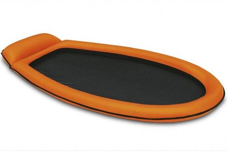 Opblaasbaar Loungebed met Net Bodem (Oranje) (Intex) #luchtbed #loungebed #intex