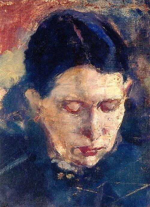 Karen Bjølstad by Edvard Munch - 1885-1886
