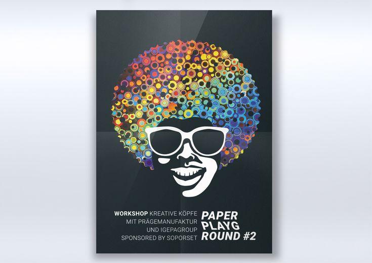 IGEPA EVENT FREYTAG & PETERSEN #paper playground, Event Heißfolienprägung, Plakat, Gestaltung, Design R211-Agentur für Kommunikation