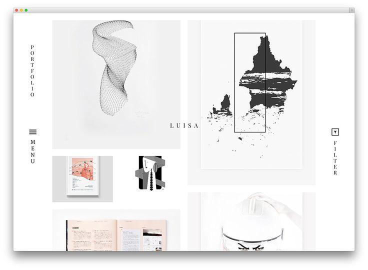 luisa - clean minimal portfolio theme