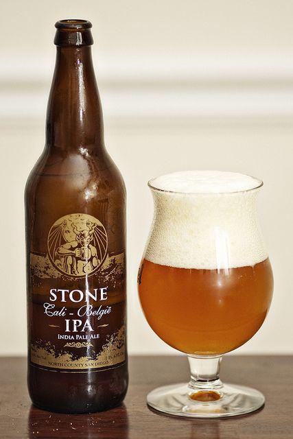 Stone Cali-Belgique IPA (photo by Edwin Bautista)  #craftbeer #stonebrewing