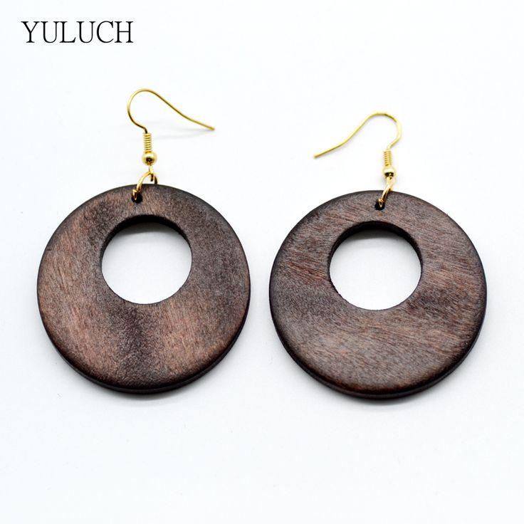 Ultime africano gioielli orecchini coppia 2016 di buona qualità di nuovo disegno in legno fatti a mano