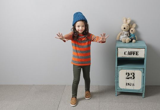 Korea children's No.1 Shopping Mall. EASY & LOVELY STYLE [COOKIE HOUSE] Paul Sand T-shirt / Size : 7-17 / Price : 13.74 USD #cute #koreakids #kids #kidsfashion #adorable #COOKIEHOUSE #OOTD #top #stripe #lovely