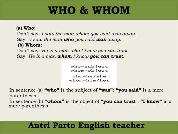 """hellolearnenglishwithantriparto: """" WHO & WHOM in English """""""