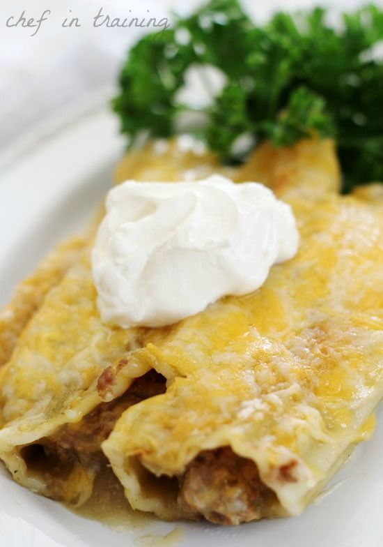 Mexican Manicotti - It was ok.  We did not like the green sauce with this.  Next time, I might try it with red enchilada sauce.  Unfortunately, it reminded me of taco bell, but was a quick easy dinner (if you had prepared and frozen beforehand like me).