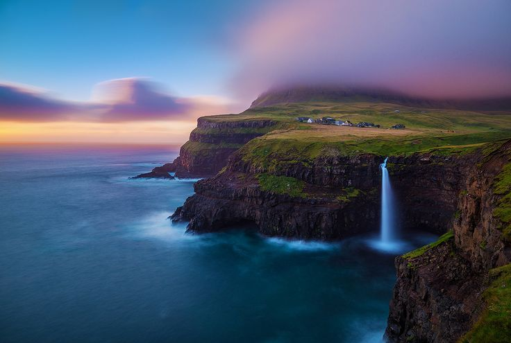 A Different World | Gásadalur Faroe Islands - v on life - Pictures of this waterfall are what brought me to the Faroe Islands an archipelago in the North Atlantic between Norway and Iceland.  Breathtaking scenery and unspoiled beauty is what dre... http://ift.tt/2cXx6vk IFtemppicpinned in Building blocksdownld in ios #September 22 2016 at 01:32PM#via IF