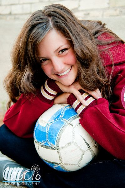 Sports senior picture....soccer ball....cleats....and Letterman!  <3