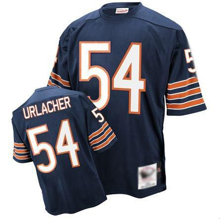 Mitchell and Ness Chicago Bears 54 Brian Urlacher Blue Stitched Throwback NFL Jerseys:$21