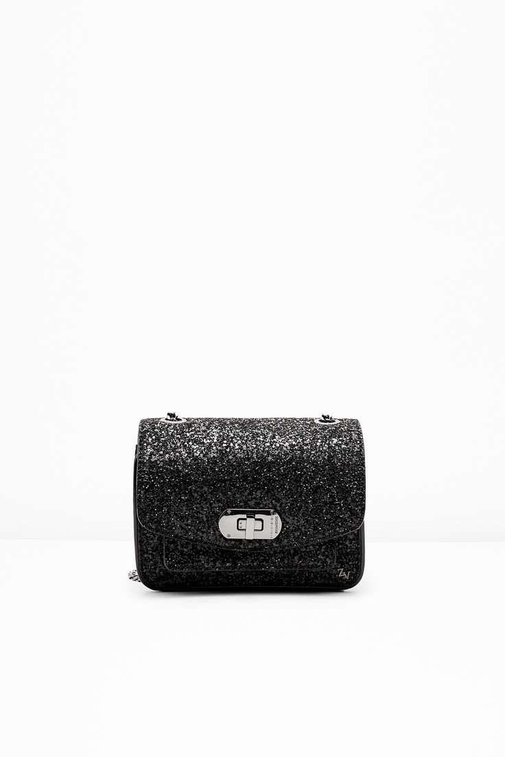 "Zadig & Voltaire small bag, chain strap, can be worn cross body or on the shoulder, ZV rivet and military clasp, engraved eyelets, 5.5x15x18cm/2.1x5.9x7"", 70% polyester, 20% cotton, 10% leather. This model is the versatile Zadig & Voltaire bag, redesigned every season. It wears perfectly for casual outfits as for the most dressy outfits."