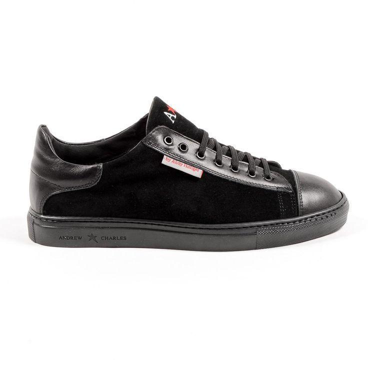 Andrew Charles Mens Sneaker Black TOM