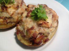 Halve Bagte Kartofler med Røget Makrel