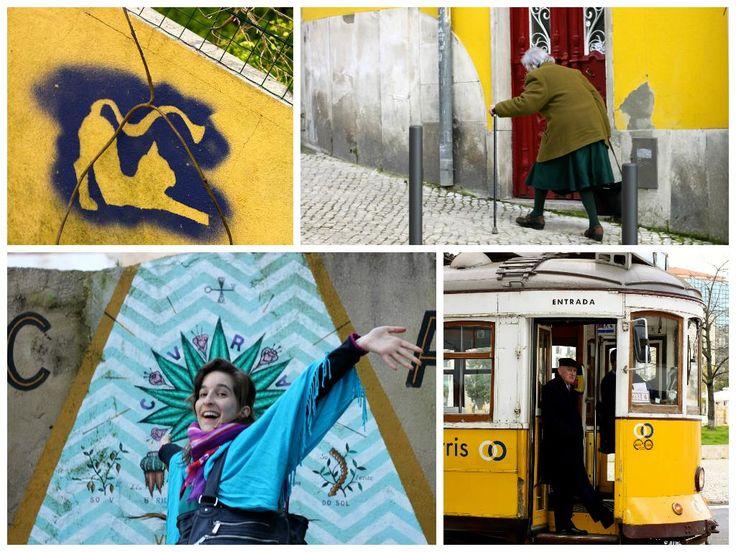 #YellowCity #Tram28 Postcards from Lisbon | postcardsfromanywhere