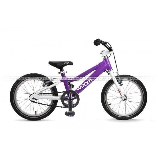 Rower Woom 3 fioletowy dla dziewczynku ponad 4 lata na kołach 16 cali
