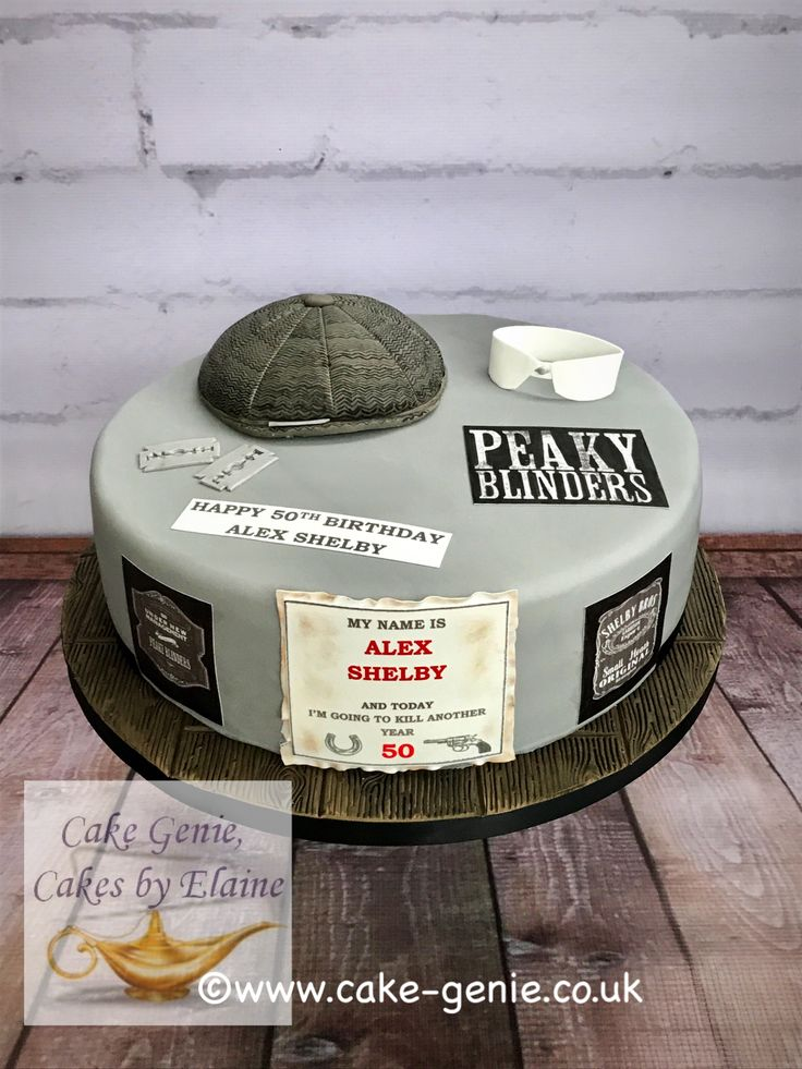 Peaky Blinders Cake In 2019 Big Birthday Cake 18th Cake