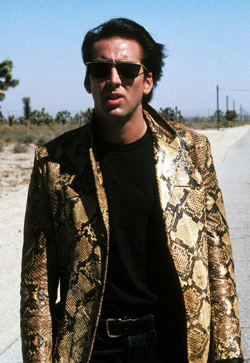 Nicholas Cage in Wild At Heart, a film of David Lynch