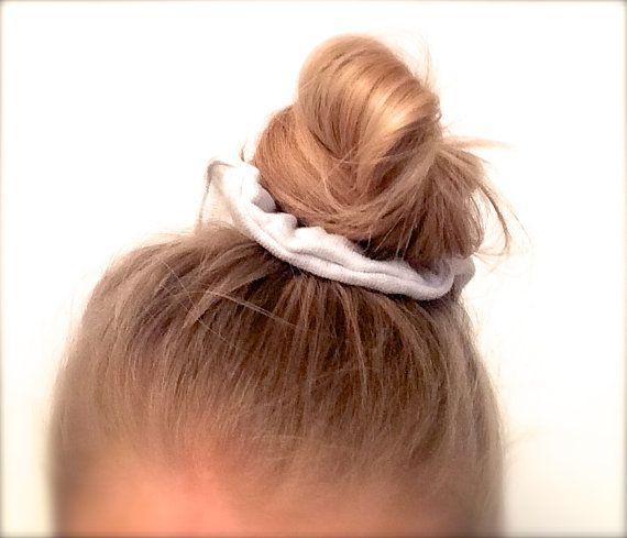 Scrunchie Hair elastic. Light grey. by ChouchouScrunchie on Etsy