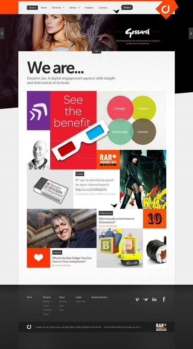 Digital Design Agency - Creative Jar - Webdesign inspiration www.niceoneilike.com