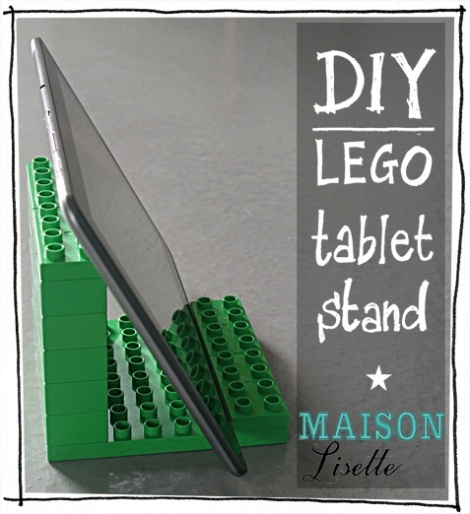 DIY lego tablet stand Maison Lisette - okay, not clothes, but I need to make this.