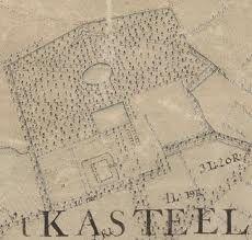 Kasteel van Tilburg op kaart van Zijnen