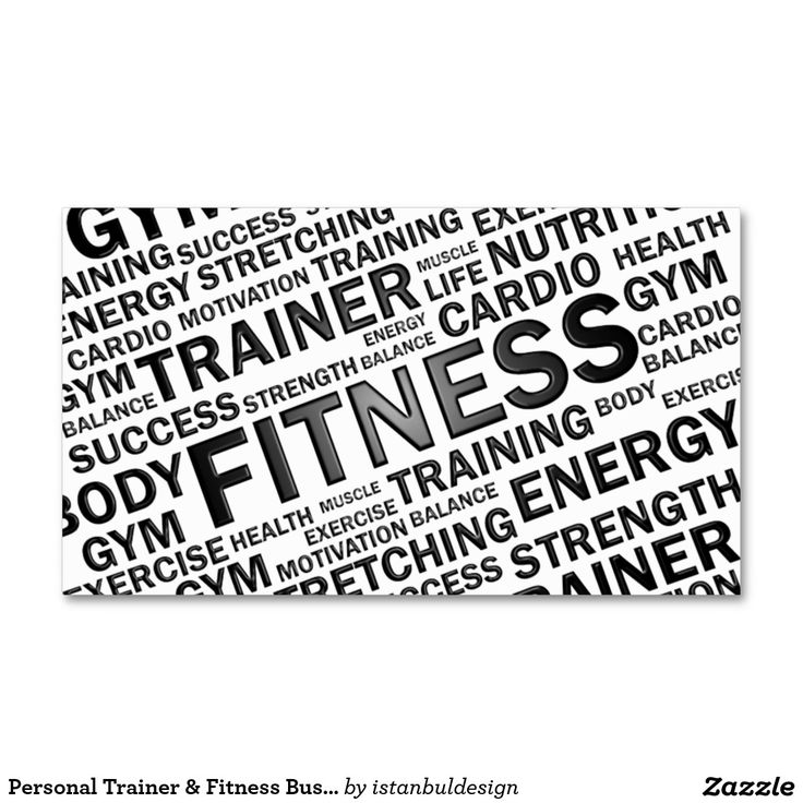The 133 best Business Cards: Personal Trainer images on Pinterest ...