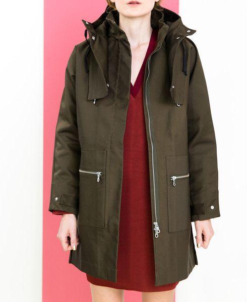 Bonded raincoat // Folk