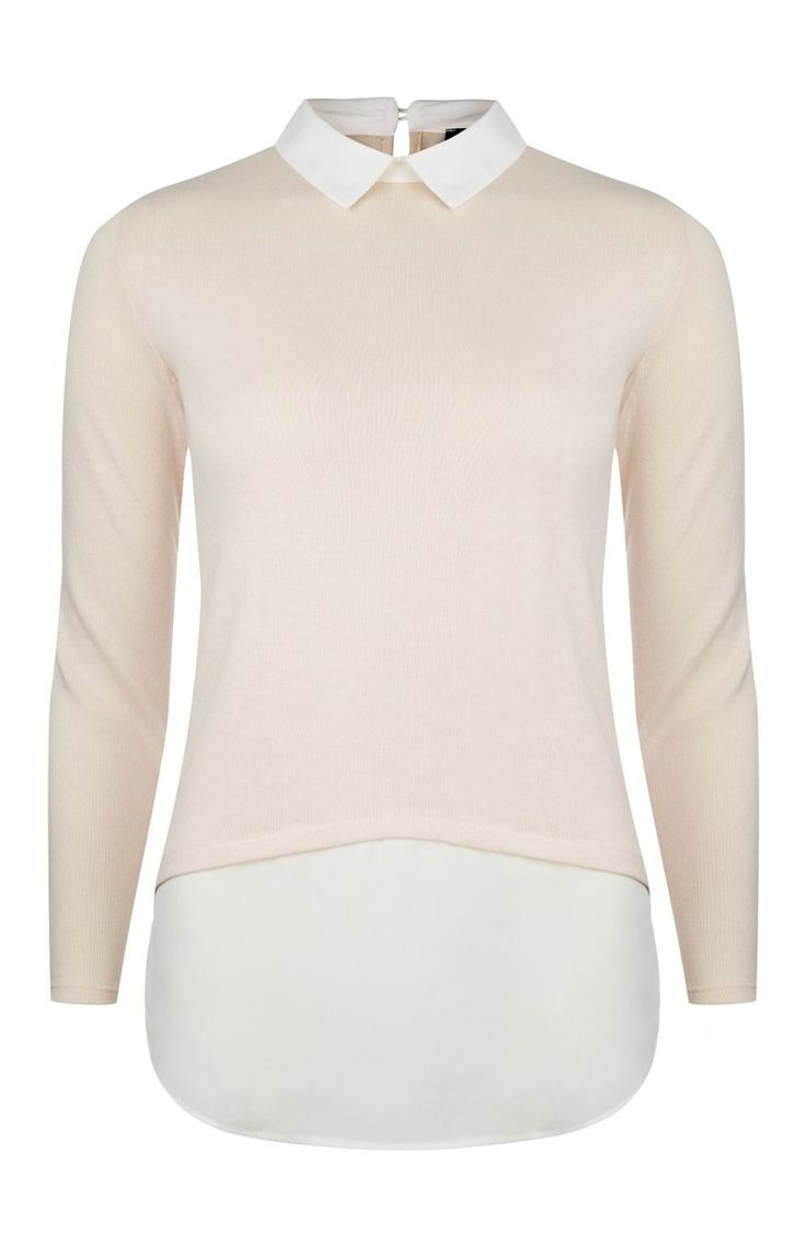 Primark london fashion week day in the life primark womenswear - Primark Blush Curved Hem 2 In 1 Collar Blouse