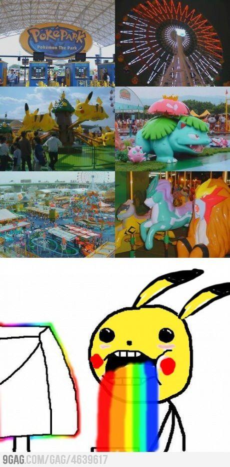 Poke'mon theme park!