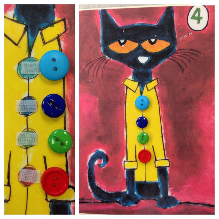 Pete the Cat token board - Velcro buttons and use that as ...