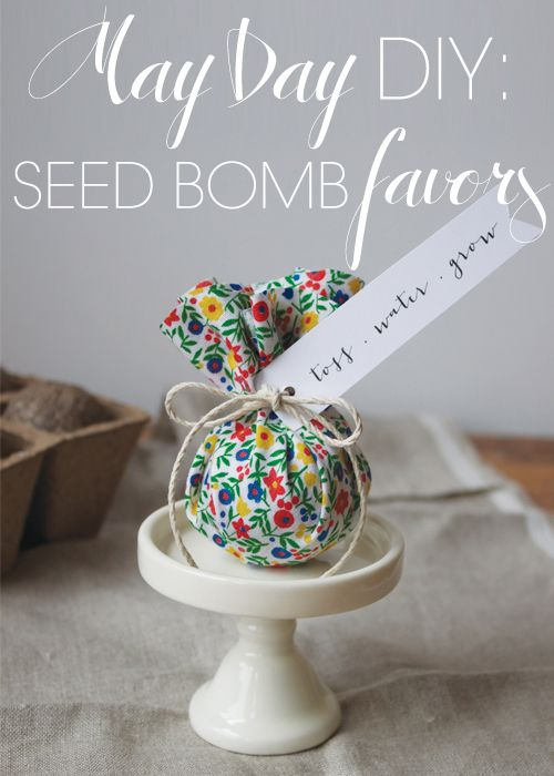 Cute wedding/shower favor idea, but I like to do something like this with my grandkids. Neat teacher or Mother's Day Gift. See At http://www.projectwedding.com/blog/2013/05/01/diy-wednesday-may-day-seed-bombs/
