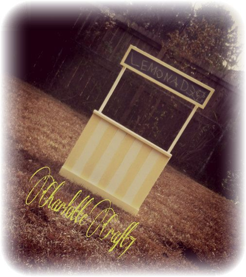 Lemonade Stand Photography Prop by Charlottecraft7 on Etsy, $125.00