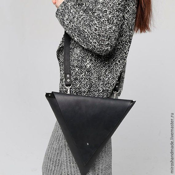 Black Leather Bag   Оригинальная черная женская сумка из кожи