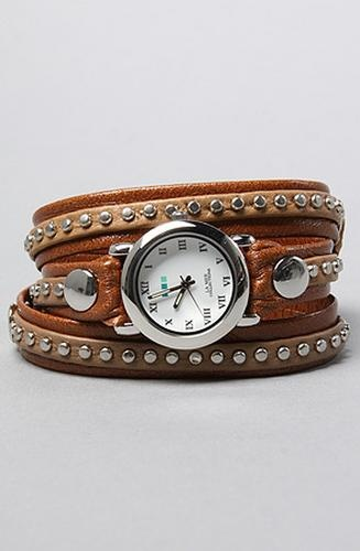 La Mer Women's The Bali Silver Circle Wrap Watch in Mocha, Watches #Glimpse_by_TheFind