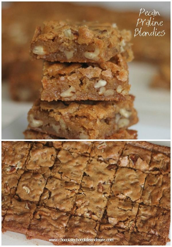Pecan Praline Blondies