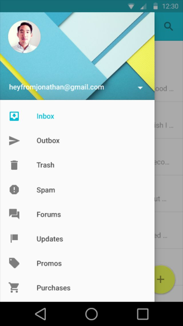 New Google Material Design Style
