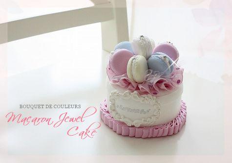 キャンディーカラーでMacaron Jewel Cake ♡