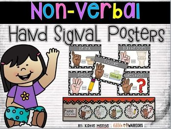 """These free Hand Signal posters are a very useful classroom management tool!  Train your students to use these hand signals as one of your classroom procedures instead of calling out across the room. This cuts back on disruptions during class and small groups AND prevents """"The domino effect"""" from happening."""