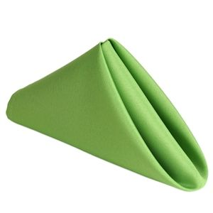 """17""""x17"""" APPLE GREEN Wholesale Polyester Linen Napkins For Wedding Birthday Party Tableware - 5 PCS Regular Price $4.99 Factory Price $1.39"""