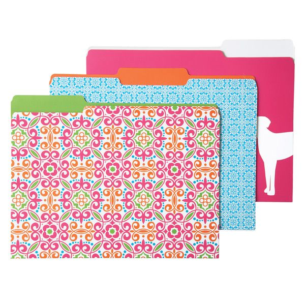 Gorgeous file folders - perfect for spring organization!