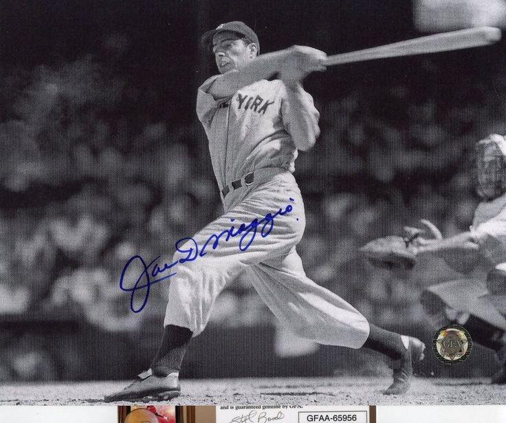 Joe DiMaggio Signed 8x10 Photo Auto GFA Yankees BIG SWING @ Plate (SHIPS FREE)