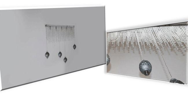 Bohème 5 Luci Lampadario rettangolare con cristalli e pendenti in boemia di cristallo decorati argento e argento e bronzo  SCHEDA TECNICA Dimensioni: L. 800 mm H. 700 mm   Portalampade: 5 x G9 max 60W