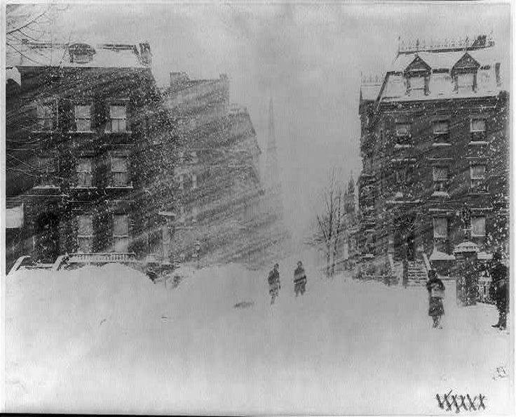 New York City during the 1888 blizzard. Pretty much the way it felt at work today. :P