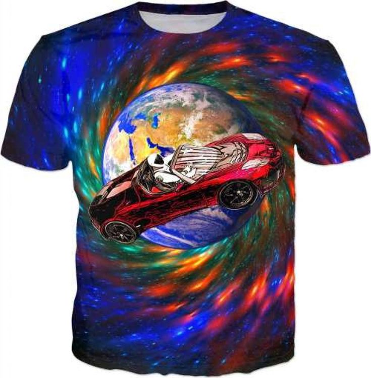 Starman Space Car T-shirt – AWESOMAGE!