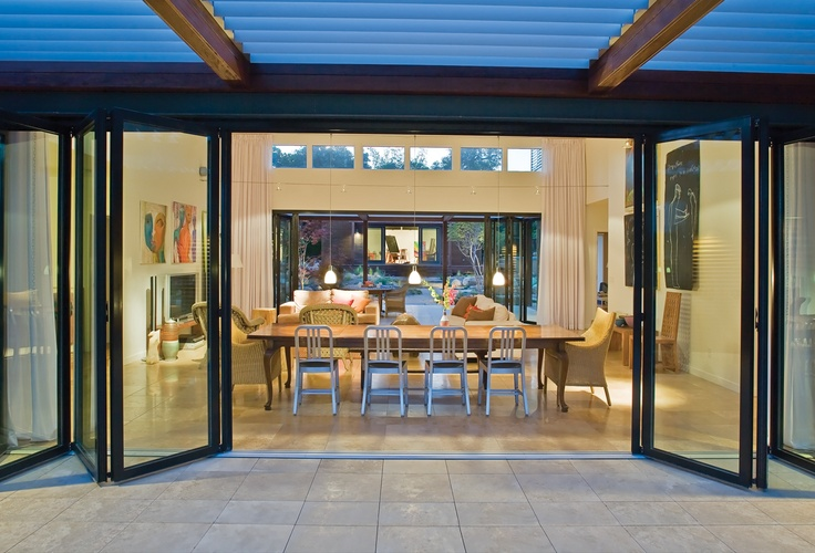 by-fold doors flowing out to the deck