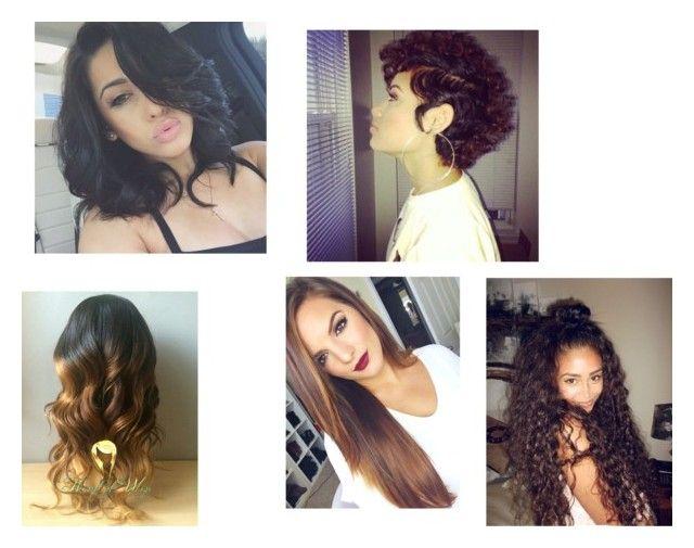 """Brazilian Hair,Virgin Brazilian Hair,Wholesale Brazilian Hair"" by okayhair on Polyvore featuring beauty"