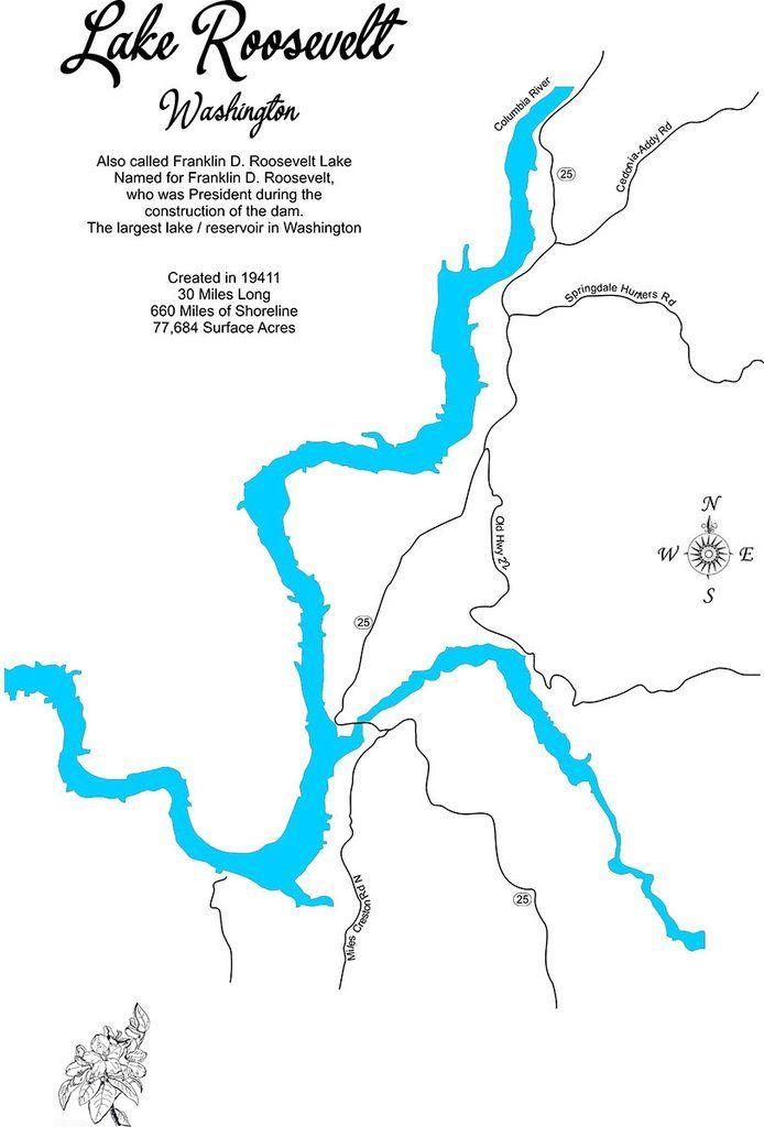 lake roosevelt washington map Pin On Lake Roosevelt Cool Content lake roosevelt washington map